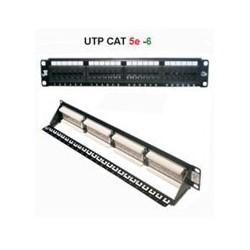 Patch panel UTP CAT 5e 16 θυρών 1U