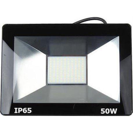 Προβολέας LED 50W SMD Αλουμινίου Slim Στεγανός 3500Lm IP65 4000K