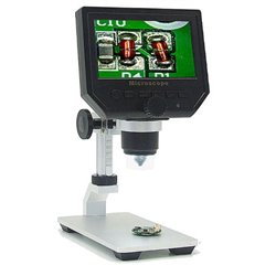 Mustool® G600 Digital Portable 1-600X 3.6MP Microscope Continuous Magnifier with 4.3inch HD LCD Display ADJUSTABLE BASE
