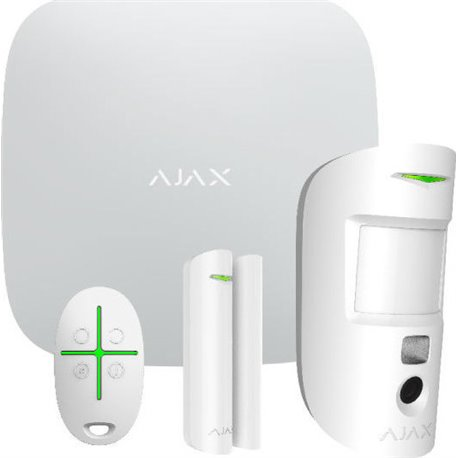 Ajax Hub Starter Kit Cam ασύρματου συναγερμού Λευκό