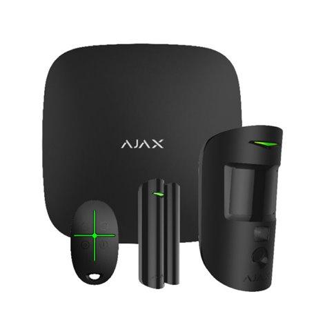 Ajax Hub Starter Kit Cam ασύρματου συναγερμού Μαύρο