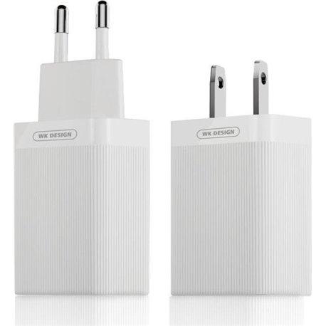 WK USB Wall Adapter Λευκό (Lochon QC3.0) Quick Charger 3A
