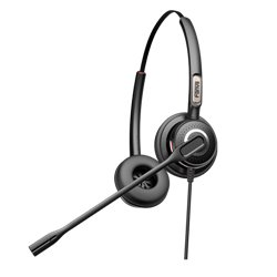 FANVIL HT202 Call Center Headset Dual with QD to RJ9 Connecting Cord