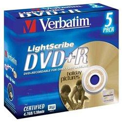 VERBATIM DVD-R 4.7GB Matt Silver 5 τεμ.(43575)