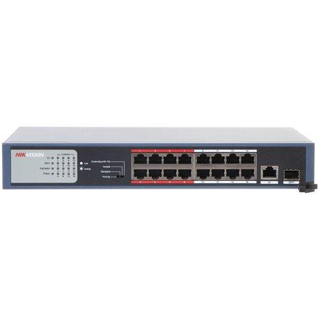 HIKVISION DS-3E0318P-E/M 16 Ports Fast Ethernet/ 1 Gigabit Ethernet Uplink Port POE Switch 230W