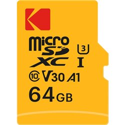 KODAK microSDXC 64GB U3 4K Video Recording
