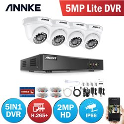 ANNKE DW81LD 8CH 5MP DVR + 4 CAM 2MP DOME ΕΞΩΤΕΡΙΚΕΣ FULL SET