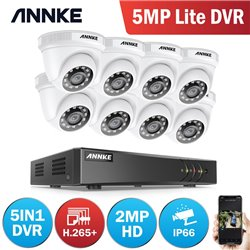 ANNKE DW81LD 8CH 5MP DVR + 8 CAM 2MP DOME ΕΞΩΤΕΡΙΚΕΣ FULL SET