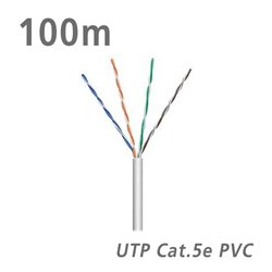 ΚΑΛΩΔΙΟ UTP Cat.5e U/UTP Eca CCA PVC 5.0mm Grey 100m