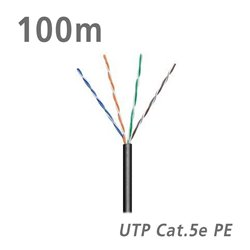 ΚΑΛΩΔΙΟ UTP Cat.5e U/UTP CCA PE 5.0mm Black 100m