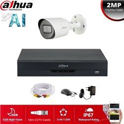DAHUA SET 2MP(1080P) XVR5104HS-I2+ 1 ΚΑΜΕΡΑ DAHUA HAC-HFW1200T-S4