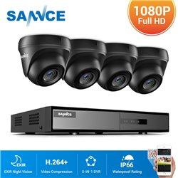 SANNCE CCTV SET 1080p 5σε1 DVR DN81BL 8ch + 4x SANNCE C51ES 1080p