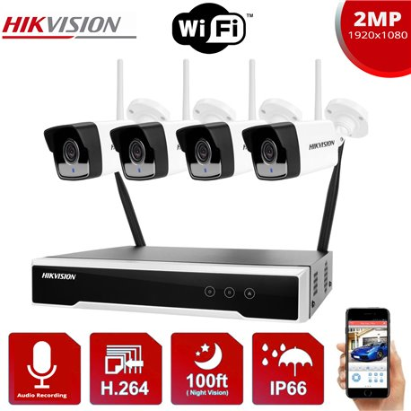 HIKVISION WIFI IP SET 2MP DS-7104NI-K1/W/M + 4 IP ΚΑΜΕΡΕΣ DS-2CV1021G0-IDW1