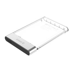 """ORICO 2129U3-CR θήκη σκληρόυ δίσκου 2.5"""" HDD-SSD USB 3.0 διάφανη"""