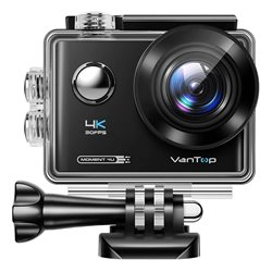 VanTop Moment 4U D4UQ 4K action camera 30fps 20MP touch screen
