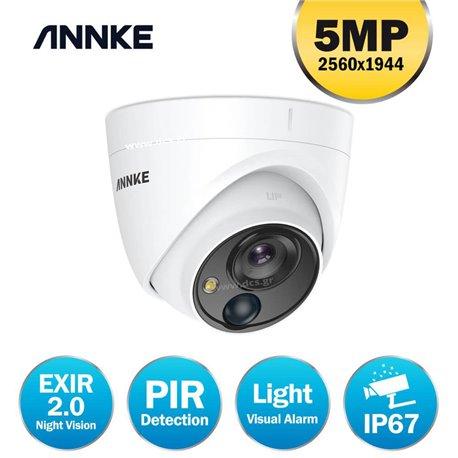 ANNKE CR1BN 2.8mm dome PIR camera 5MP built-in white light