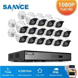 SANNCE CCTV SET 1080p 5σε1 DVR DT61BB 16ch +16x SANNCE C51EQ 1080p