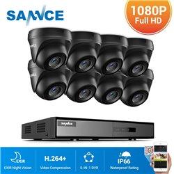 SANNCE CCTV SET 1080p 5σε1 DVR DN81BL 8ch + 8x SANNCE C51ES 1080p