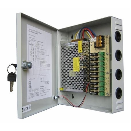 Τροφοδοτικό CCTV 9ch 10A YDSBOX12-120-9