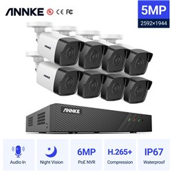 ANNKE SET 5MP N48PBB POE NVR 8 IP + 8 CAM ΕΞΩΤΕΡΙΚΕΣ I51DL 5MP 2.8mm
