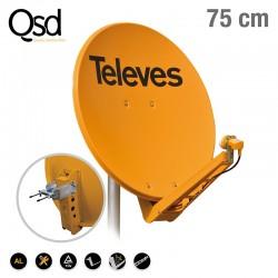 TELEVES ΚΑΤΟΠΤΡΟ QSD 75 ALU πορτοκαλί