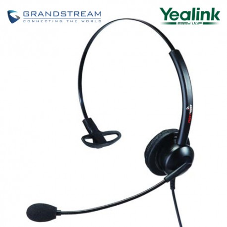 Supervoice SVC101 Call Center Headset Mono with QD to RJ9 connecting cord
