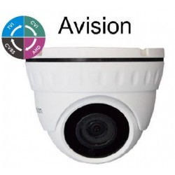 AVISION D1080W 2.8mm dome camera μεταλλική 1080p (TVI/AHD/CVI/CVBS)