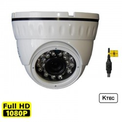 KTEC D200W 3.6mm dome camera 1080p (TVI/AHD/CVI/CVBS)