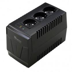 POWERTECH σταθεροποιητής ρεύματος PT-AVR-1500 1500VA, με 3 εξόδους πρίζας