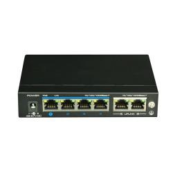 BroxNet BRX551-GE04-2GUP 4 Ports Gigabit Ethernet / 2 Gigabit Ethernet Uplink Ports,PoE Switch(60W)