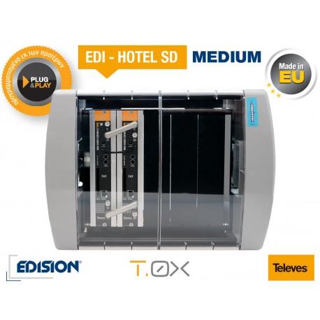 EDI-HOTEL SD SMALL Πακέτο με 13 δορυφορικά κανάλια