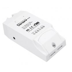 SONOFF Smart Διακόπτης TH10 + Sensor AM2301, υγρασίας - θερμοκρασίας, 10A, WiFi, λευκό