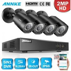 ANNKE CCTV SET 1080P 5σε1 DVR 8ch + 4 CAM ΕΞΩΤΕΡΙΚΕΣ 1080P