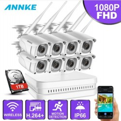 ANNKE 8CH 1080P FHD WiFi NVR Video Surveillance System