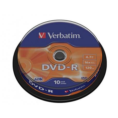 VERBATIM DVD-R Matt Silver 10 τεμ.(43523)