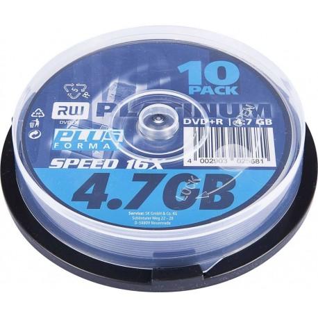 PLATINUM DVD+R 4.7GB X16 10 τεμ.(43498)