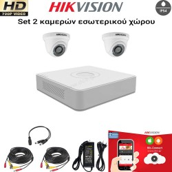 HIKVISION SET 1MP(720P) DS-7104HGHI-F1 + 2 ΚΑΜΕΡΕΣ HIKVISION DS-2CE56C0T-IRPF 2.8mm