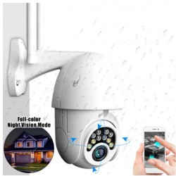 GOCOMMA 5X Zoom 10LED 1080p HD Wifi IP Onvif Camera εξωτερική
