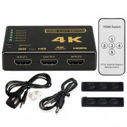 HDMI SWITCH 5 X 1 4K ULTRA HD ΕΠΙΛΟΓΕΑΣ HDMI ΜΕ REMOTE CONTROL