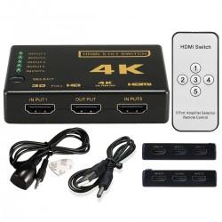 HDMI SWITCH 5 X 1 4K ULTRA HD ΕΠΙΛΟΓΕΑΣ HDMI ΜΕ REMOTE CONTROL