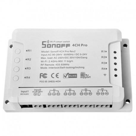 Sonoff 4CH PRO R2 - Έξυπνος Ασύρματος Διακόπτης Wifi 4 Καναλιών