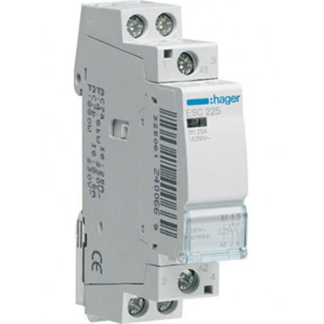 Relay ισχύος Hager ESC225 230V 25A 2NO
