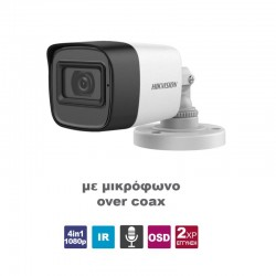 HIKVISION - DS-2CE16D0T-ITPFS 2.8mm bullet camera 1080p Built-in Microphone